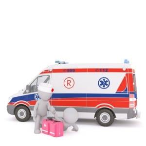 mentő autó