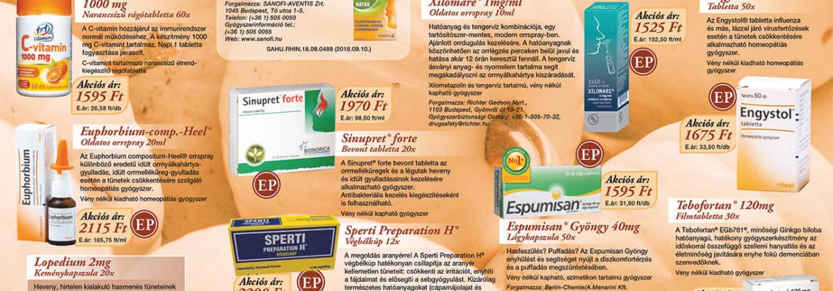 Ügyeletes gyógyszertár novemberi akció - Elefantpatika.hu