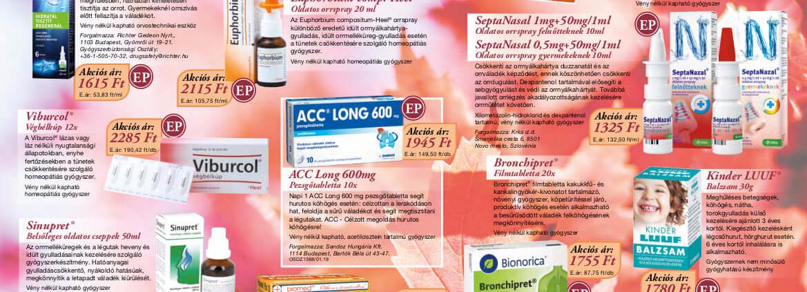 Ügyeletes gyógyszertár október akció - Elefánt patika