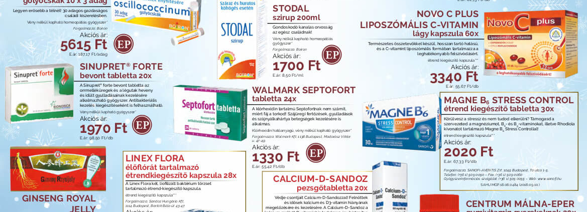 Ügyeletes gyógyszertár januári akció - Elefantpatika.hu