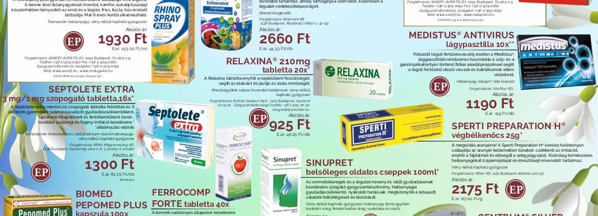 Ügyeletes gyógyszertár februári akció - Elefantpatika.hu