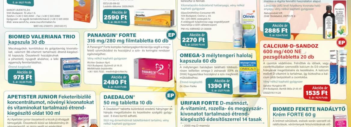 Ügyeletes gyógyszertár szeptember akció - Elefantpatika.hu